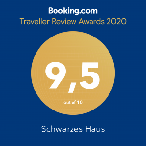 Booking.com Traveller Review Award 2020: 9,5 von 10 Punkten